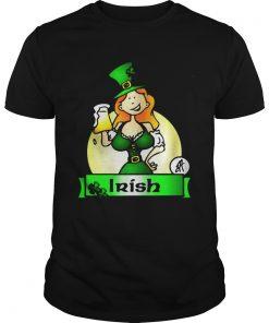 Guys Irish lady drink beer shirt