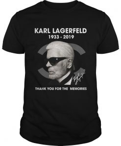 Guys Karl Lagerfeld 1933 2019 thank you for the memories shirt