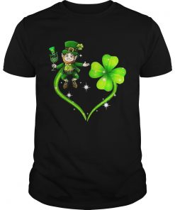 Guys Leprechaun four leaf clover shirt