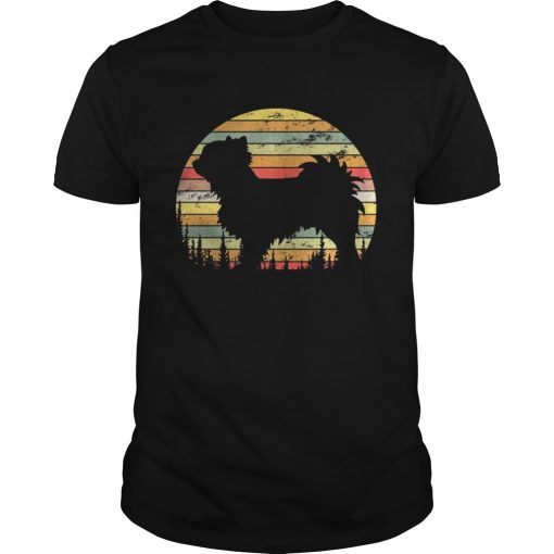 Guys Long Coat Chihuahua Retro 70s Vintage Dog Lover Shirt