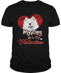 Guys My Dog Is My valentine Samoyed Shirt