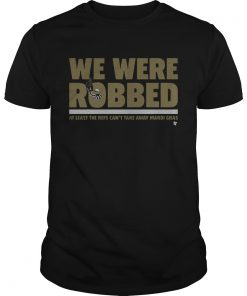 Guys New Orleans Saints we were robbed at least the refs cant take away mardi gras shirt
