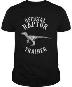 Guys Official Raptor Trainer Jurassic Dinosaur shirt