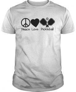 Guys Peace love pickleball shirt