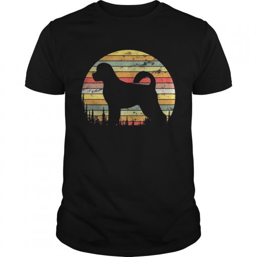 Guys Portuguese Water Dog Retro 70s Vintage Dog Lover Shirt
