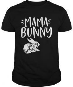 Guys Rabbit mama bunny baby bunny shirt