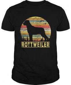 Guys Rottweiler Retro 70s Vintage Dog Lover Shirt