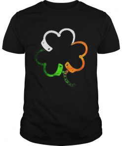 Guys Shamrock police saint patrick's day T-Shirt