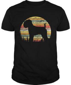 Guys Soft Coated Wheaten Terrier Dog Retro 70s Vintage Shirt