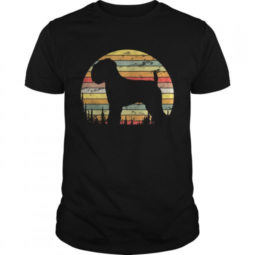 Guys Soft Coated Wheaten Terrier Dog Retro 70s Vintage Shirt