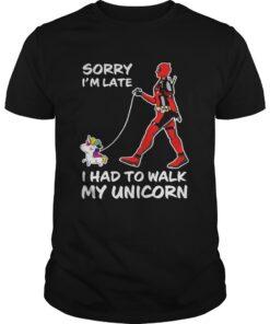 Guys Sorry Im late I had to walk my unicorn shirt