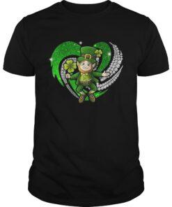 Guys St Patricks Day Love Irish Bling shirt