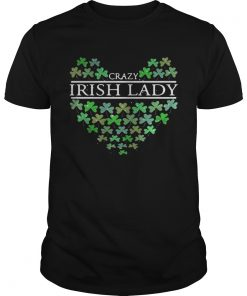 Guys St. Patrick's Day Crazy Irish Lady Heart shirt