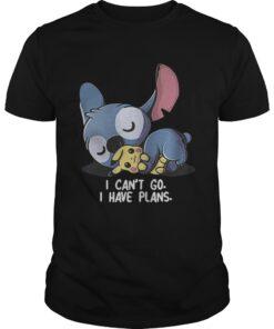 Guys Stitch hug Pikachu I cant go I have plans shirt