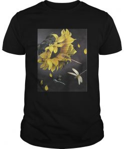 Guys Sunflower and dragonfly T-Shirt