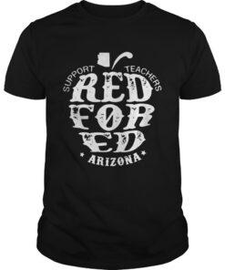 Guys Support Teachers Apple RedForEd Arizona shirt