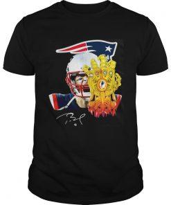 Guys Tom Brady 12 New England Patriots Thanos Shirt