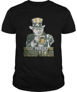 Guys Trump make St Patricks day great again shirt