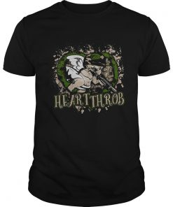 Guys Valentines Day military Cupid heartthrob shirt
