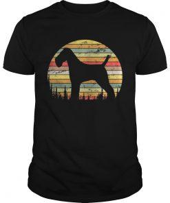 Guys Wire Hair Fox Terrier Dog Retro 70s Vintage Dog Shirt