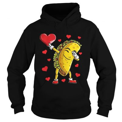 Hoodie Dabbing Taco Heart Valentines Day Food Lovers Shirt