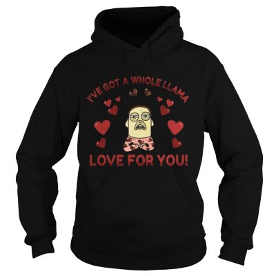 Hoodie Funny Llama Pun Love Heart Meditation Yoga Shirt