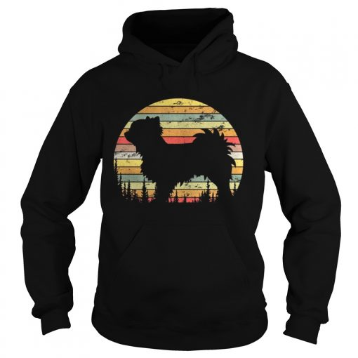 Hoodie Long Coat Chihuahua Retro 70s Vintage Dog Lover Shirt