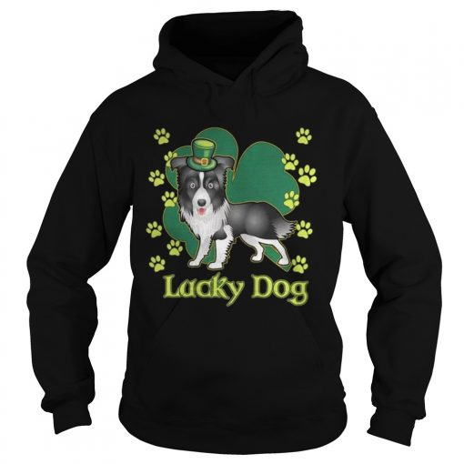 Hoodie Lucky Dog Siberian Husky Shamrock St Patricks Day Shirt
