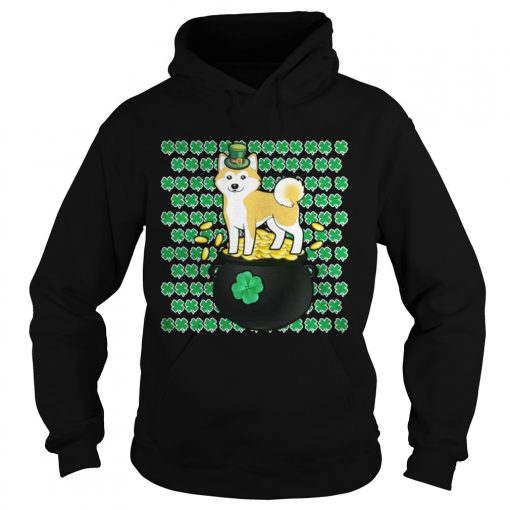 Hoodie Lucky Shiba Inu Shamrock St Patricks Day Shirt