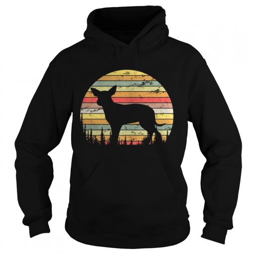Hoodie Mexican Hairless Dog Retro 70s Vintage Dog Shirt