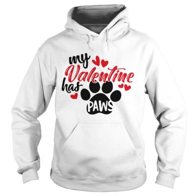 Hoodie My Valentine has paws shirt