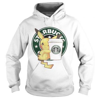 Hoodie Pikachu and Starbucks coffee shirt
