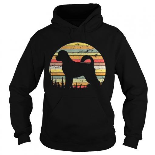 Hoodie Portuguese Water Dog Retro 70s Vintage Dog Lover Shirt