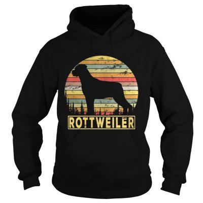 Hoodie Rottweiler Retro 70s Vintage Dog Lover Shirt