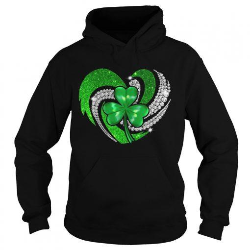 Hoodie St Patricks Day Shamrock Irish Heart shirt