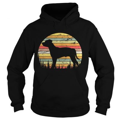 Hoodie Staffordshire Bull Terrier Dog Retro 70s Vintage Shirt