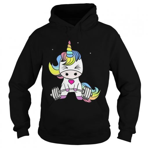 Hoodie Unicorn weight lifting the struggle is real shirt
