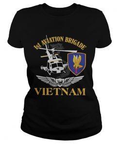 Ladies Tee 1st Aviation Brigade Vietnam shirt