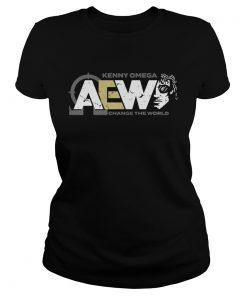 Ladies Tee AEW Kenny Omega Change The World shirt