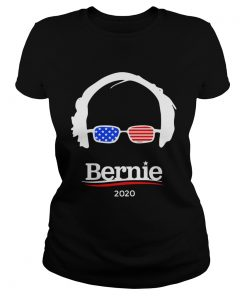 Ladies Tee Bernie Sanders 2020 Hair and Glasses Campaign shirt