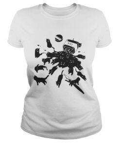 Ladies Tee Cats in ink bottle shirt