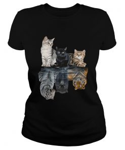 Ladies Tee Cats reflection tigers shirt