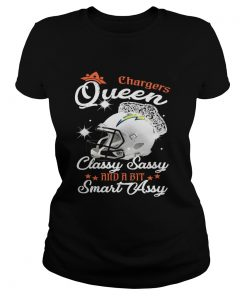 Ladies Tee Chargers Queen Classy Sassy And A Bit Smart Assy Shirt