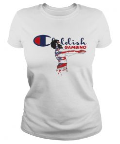 Ladies Tee Childish gambino stickers shirt