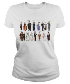 Ladies Tee Downton Abbey characters shirt