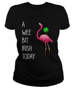 Ladies Tee Flamingos pink a wee bit Irish today shirt