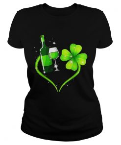 Ladies Tee Goblet four leaf clover shirt