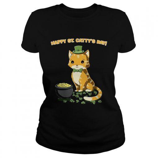 Ladies Tee Happy St Cattys day shirt