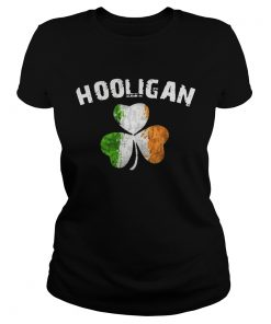 Ladies Tee Hooligan Irish Patrick day shirt