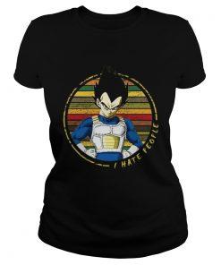 Ladies Tee I hate people Vegeta vintage shirt